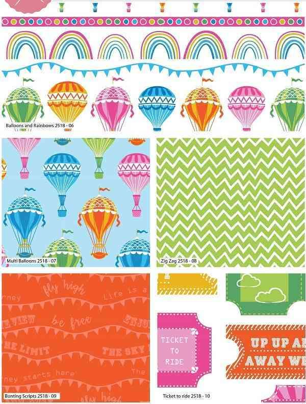 Fat quarter Hot Air Balloons