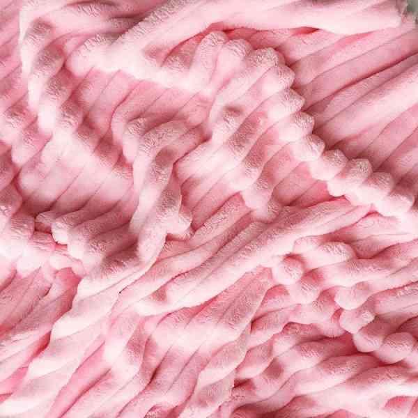 Minky Pile Premium Rosa Rigato
