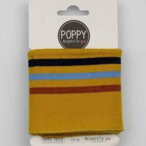 Tessuto in maglia per Polsini Ocre a righe