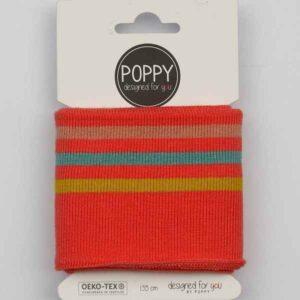 Tessuto in maglia per Polsini Corallo a righe