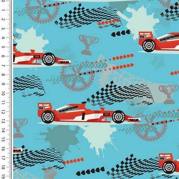 Felpa Garzata di Cotone Formula Uno