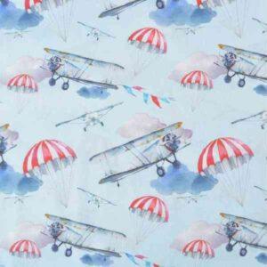 Cotone con Mongolfiere ed Aeroplani