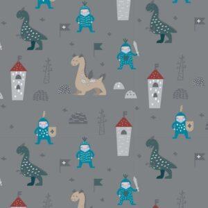 Felpa Garzata di cotone con Dinosauri