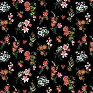 Cotone Nero Flowery