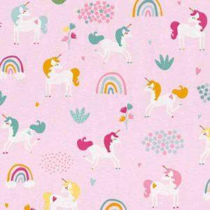 Cotone Canvas con Unicorni