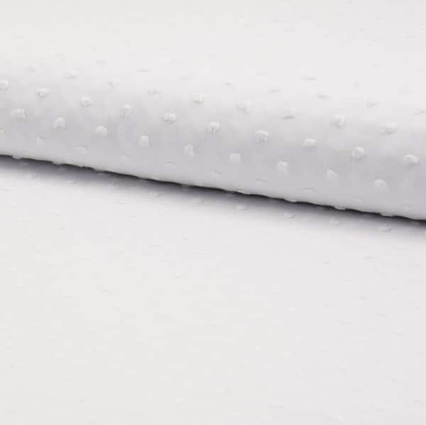 plumetis puro cotone bianco