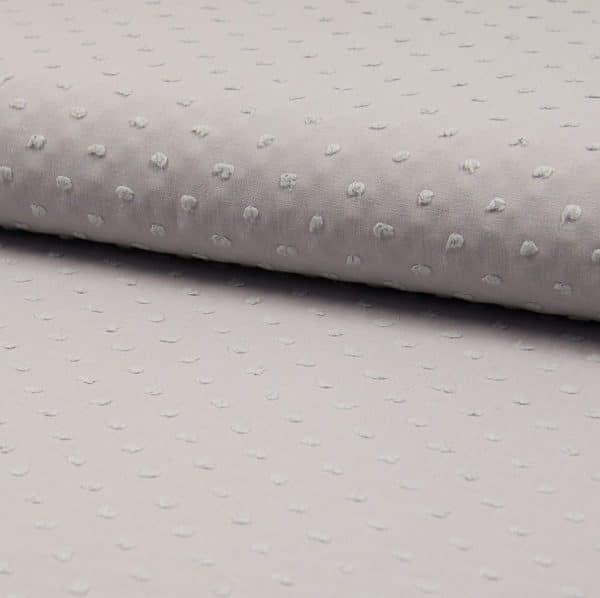 Plumetis puro cotone Grigio chiaro