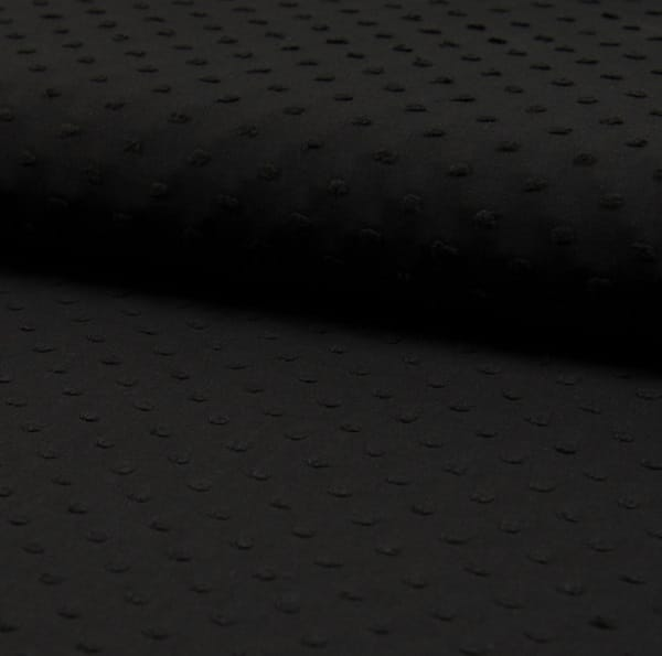 Plumetis puro cotone Nero