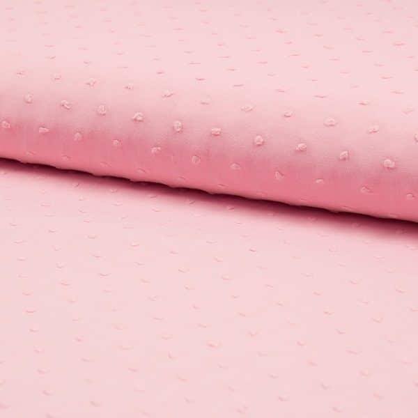 Plumetis puro cotone Rosa vintage chiaro