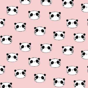 Flanella di Cotone Pink Panda