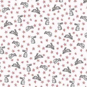 Flanella di Cotone White Bunny