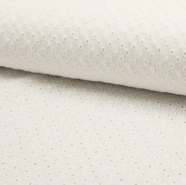 Cotone Ricamato Panna Dots