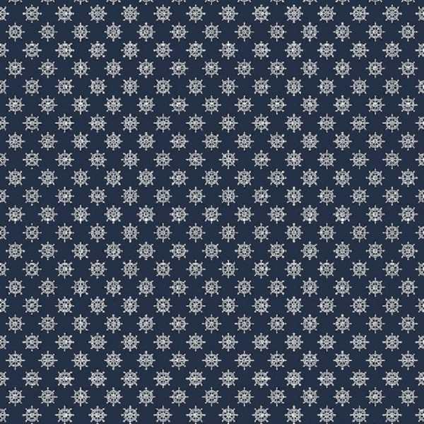 Cotone Blu Navy con Timoni