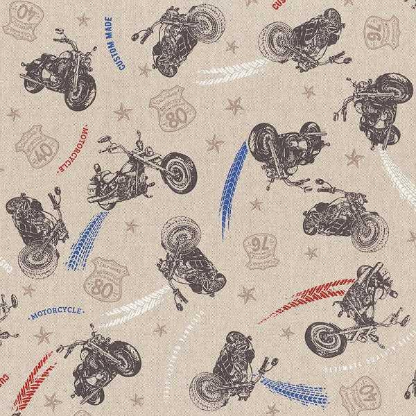 Cotone Canvas con Moto