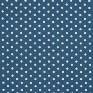 Tessuto Cotone a pois Blu e Bianco