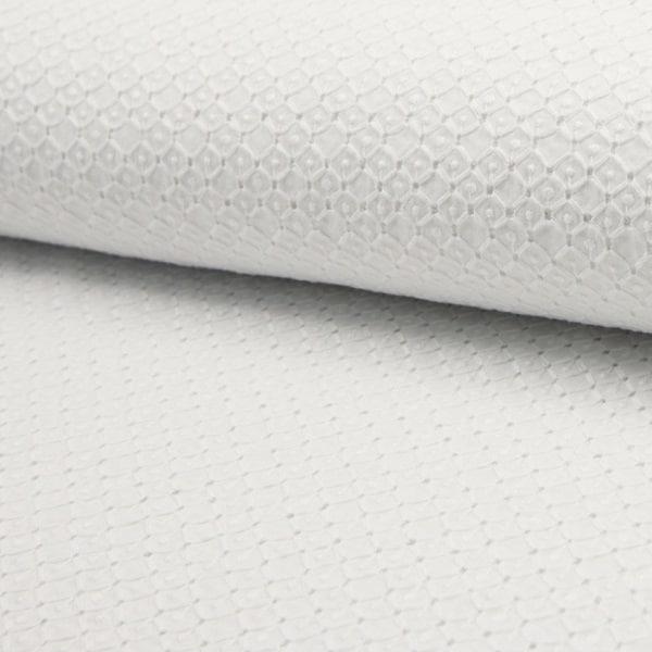 Cotone Ricamato Bianco con Rombi