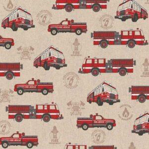 Cotone Canvas Pompieri