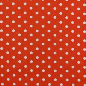 Cotone a Pois Arancione e Bianco