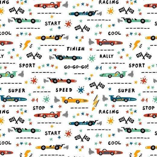 Cotone Bianco Race Cars