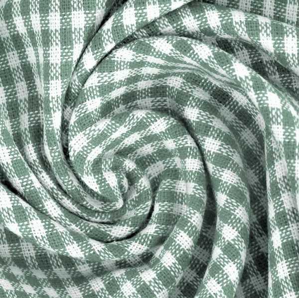 Tessuto a Quadretti Old Green