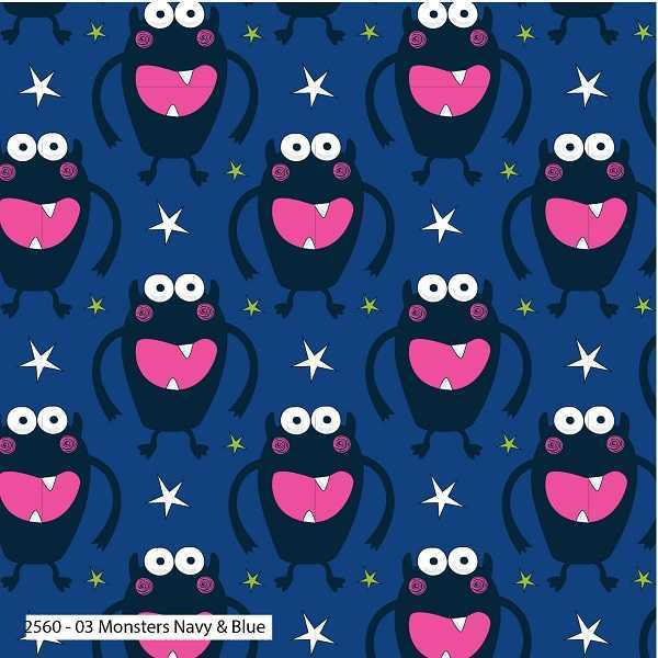 Cotone Monsters Navy