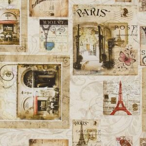 Cotone Canvas Paris Postcard