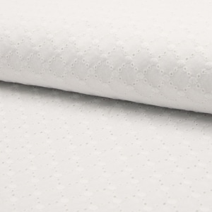 Cotone Ricamato Bianco Shell