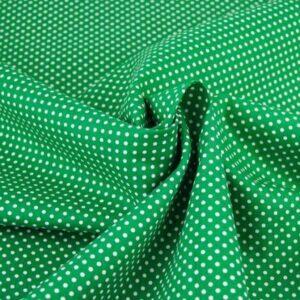 Cotone a Pois Verde e Bianco