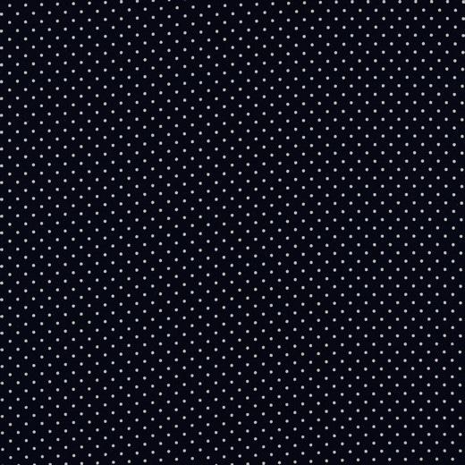 Cotone Mini Pois Blu Navy