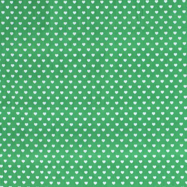 Cotone Verde con Cuoricini