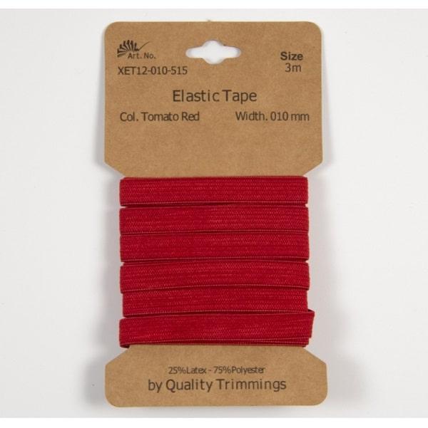 Elastico piatto Rosso 10 mm