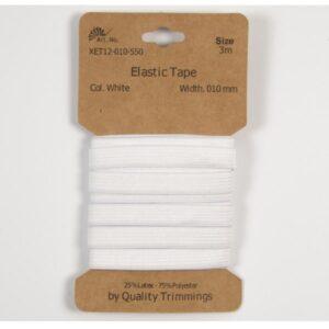 Elastico piatto Bianco 10 mm