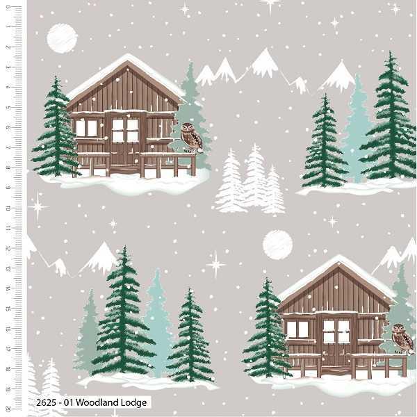 Cotone Natalizio Snow Lodge