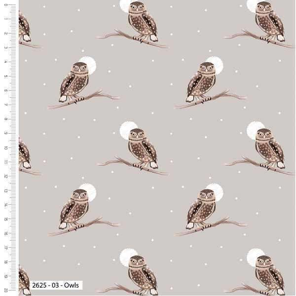 Cotone Natalizio Snowy Owls