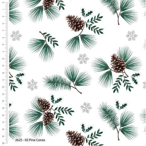 Cotone Natalizio Snowy Pine