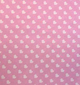 Cotone Rosa con Paperelle