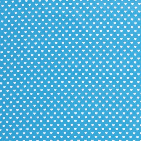 Cotone Azzurro con Cuoricini