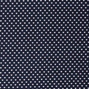 Cotone Blu Navy con Cuoricini