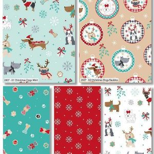 Fat Quarter Freddie and Friends Christmas