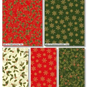 Fat Quarter Holly Metallic