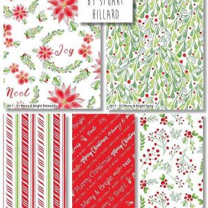 Fat Quarter MERRY & BRIGHT CHRISTMAS