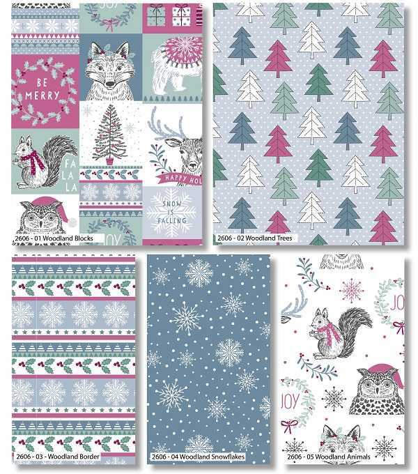 Fat Quarter Woodland Christmas