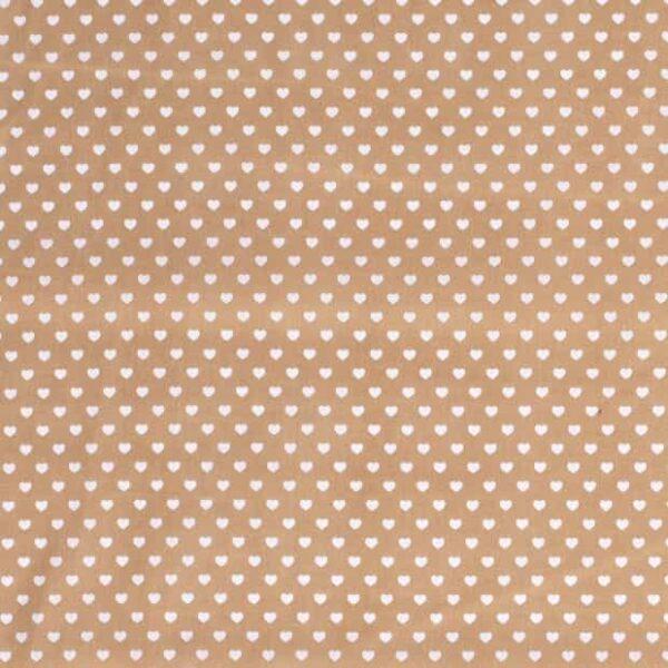 Cotone Cammello con Cuoricini