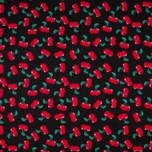 Cotone Nero con Ciliegie
