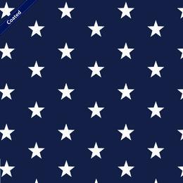 Cotone Idrorepellente Blu Navy con Stelle