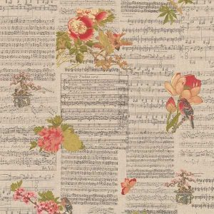 Cotone Canvas Flowers and Music