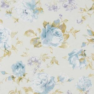 Cotone Canvas Shabby Roses Blue