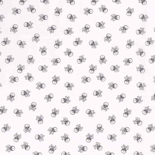 Cotone Bianco con Teschi