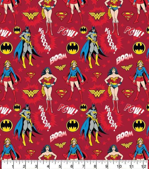 Cotone Rosso Wonder Woman