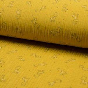 Mussolina Tripla Garza Carta da Zucchero con Giraffe